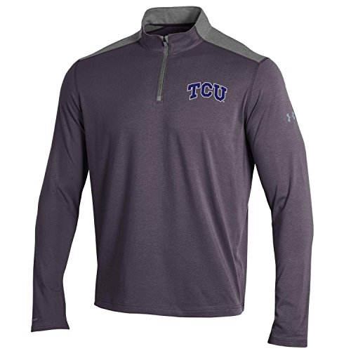 Under Armour NCAA TCU Horned Frogs Men's Charged Cotton Lightweight 1/4 Zip Shirt, 3X-Lagre, Carbon - Clothing Frogman