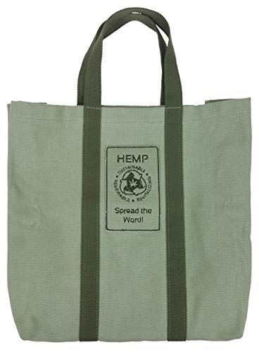220af1983bab Hemp Go Green 100% Hemp Canvas Heavy Duty Reusable Shopping Bag ...