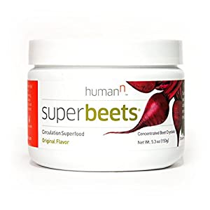 HumanN SuperBeets Original Flavor - Circulation Superfood - Premium Nitric Oxide Booster – Non-GMO Nitrate Rich Beet Root Powder – 5 ounce 30 servings.