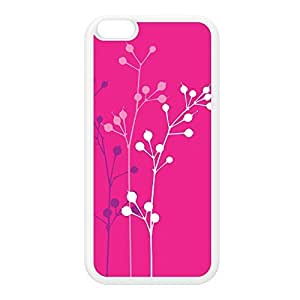 Flowerbuds Pink White Silicon Rubber Case for iPhone 6 Plus by Gadget Glamour + FREE Crystal Clear Screen Protector