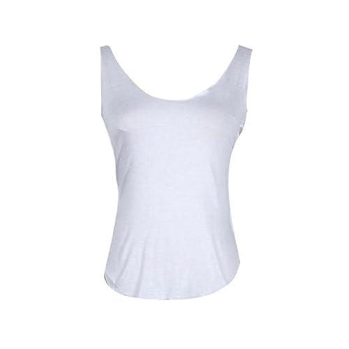 FAMILIZO Señora sin mangas con cuello en V Chaleco tapas del tanque de la camiseta