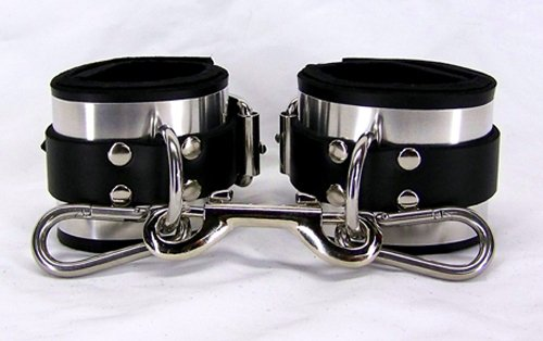 Leather Metal Band Wrist Cuffs