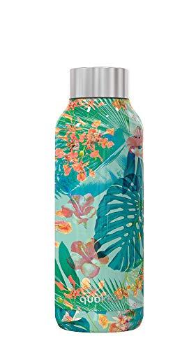 Quokka Solid Tropische fles van roestvrij staal, 510 ml, metaal, 510 ml