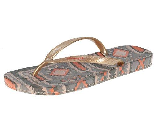 BEPPI señoras sandalias separador de dedos verano calzado dorado