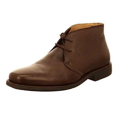 Anatomic & Co Londrina Brown Leather Lace up Boots Dunkel-braun