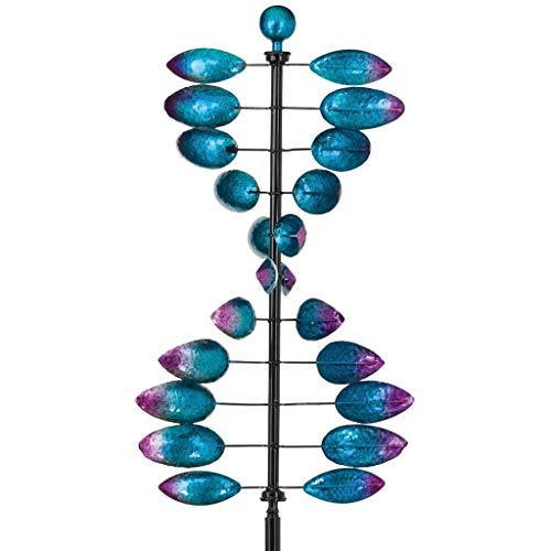 Helix Spinner - Regal Art & Gift 12255 Vertical Helix Wind Spinner, Tiffany Blue/Bronze