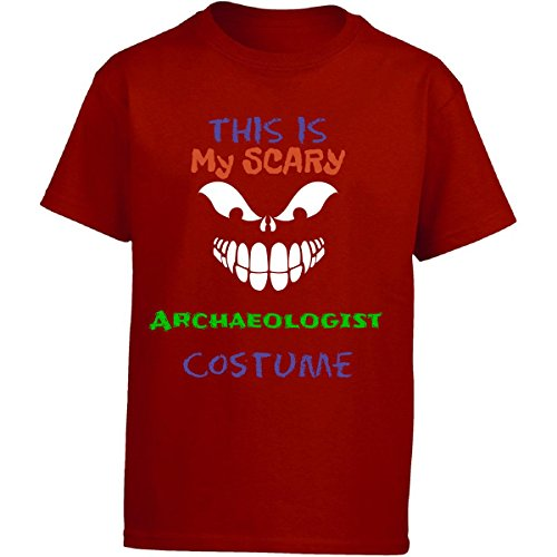 Girl Archaeologist Costume (This Is My Scary Archaeologist Halloween Costume - Girl Kids T-shirt Kids S Red)