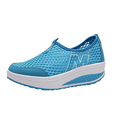 E Support Woman's Fashion Walking Slip On Sneakers Sports Beach Breathable Running Shoes Quick Drying Aqua Water Shoes