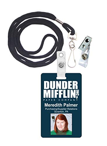 Meredith Palmer The Office Novelty ID Badge Film Prop for Costume and Cosplay • Halloween and Party Accessories -