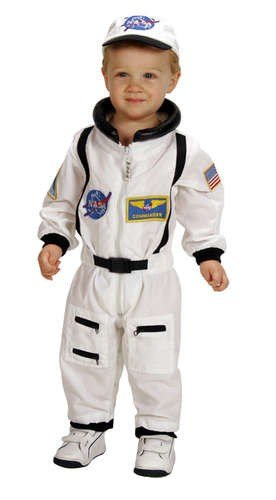 Aeromax Jr. Astronaut Suit with Embroidered Cap and NASA patches, WHITE, Size 12/14 for $<!--$38.50-->