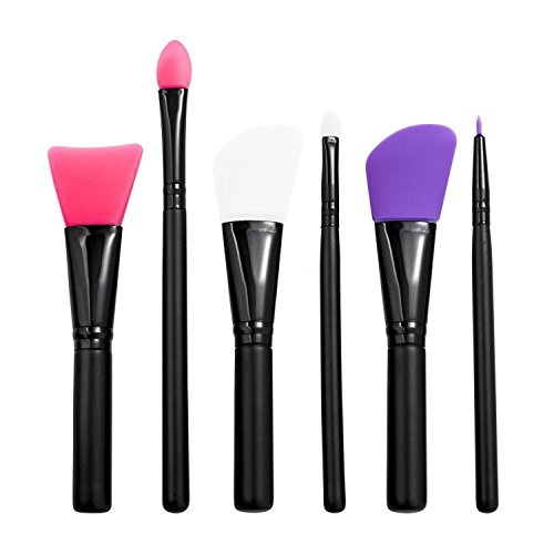 Zodaca 6 Pcs Professional Face Mask Brush Set, Silicone Faci
