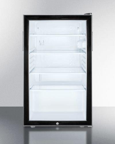 (Summit SCR500BL7ADA Refrigerator, Glass/Black)