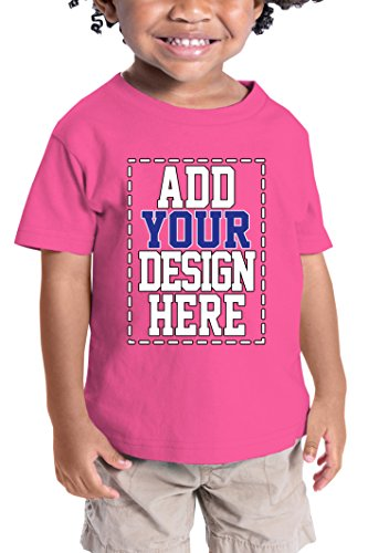 Custom Shirts for Toddlers - Design Your OWN Kids Shirt - Personalized Outfits for Babies Hot Pink