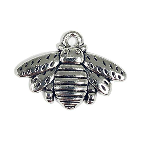 The Honey Jar - Metal Bee Charm Pendants 21mm x 16mm (7/8
