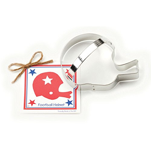 Football Helmet Cookie and Fondant Cutter - Ann Clark - 5.5 Inches - US Tin Plated Steel