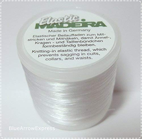 Yarn Cuff - BlueArrowExpress 3 X Madeira Elastic Invisible Knitting-in Yarn 220 yd for Cuffs, Collars, Waists