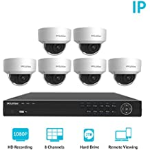 LaView 8 Channel Full HD 1080P Business Home Security Camera System 6X PoE Weatherproof Dome IP Cameras HD 2TB Surveillance NVR