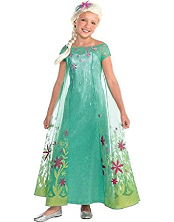 Elsa Disney Frozen Fever Costume, Medium