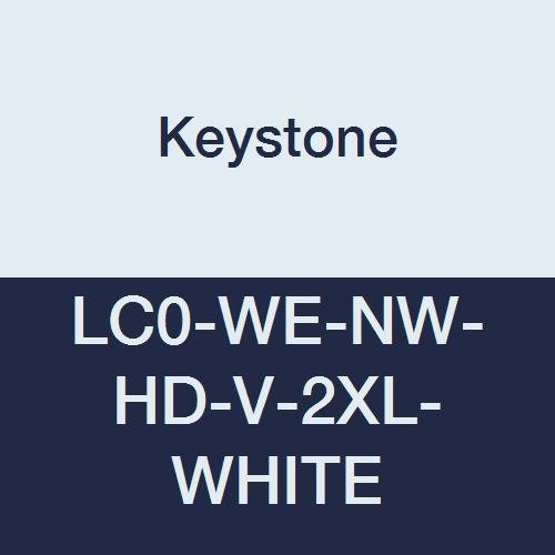 Keystone LC0-WE-NW-HD-V-2XL-WHITE Heavy Duty Polypropylene Lab Coat, No Pockets, Elastic Wrists, Velcro Front, Single Collar, XL, White (Pack of 30)
