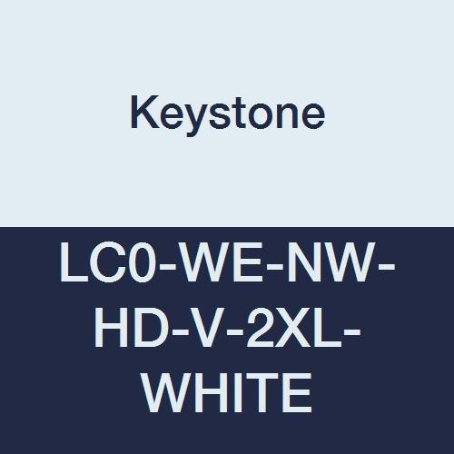 Keystone LC0-WE-NW-HD-V-2XL-WHITE Heavy Duty Polypropylene Lab Coat, No Pockets, Elastic Wrists, Velcro Front, Single Collar, XL, White (Pack of 30) by Keystone