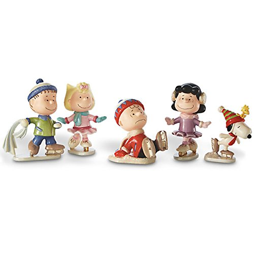Lenox Peanuts 5-piece Ice Skating Figurine Set 850697 NEW - Skating Lenox