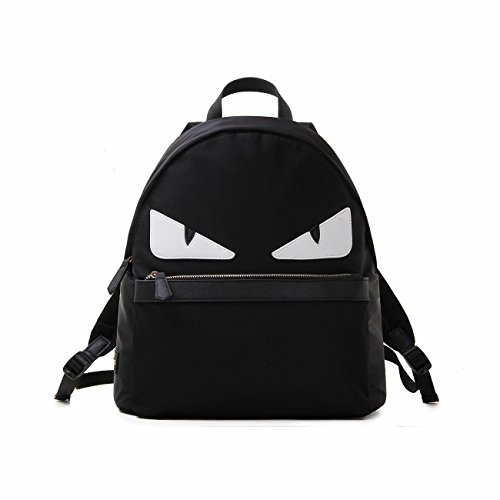 bac-cute-nylon-leather-colors-roll-monster-pack-bag-black