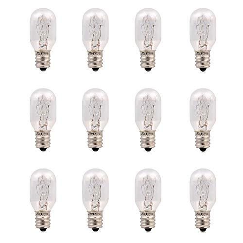 Figurines & Miniatures - 120v 15 Watt Himalayan Salt Lamp Light Bulbs Incandescent Replacement Glass E12 Socket 12pack - White Lamp E27 Himalayan Socket Salt Li Warm Moon Salt & Bulb LampBul