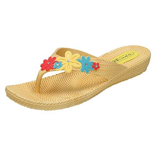 Spot-On-Boxen ohne Damen Sandalen Gelb