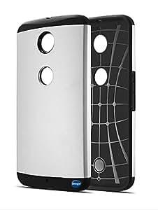 NEXUS 6 Case, Nancy's Shop Slim Armor Hard Case for Motorola / Google NEXUS 6 SmartPhone (Silver)