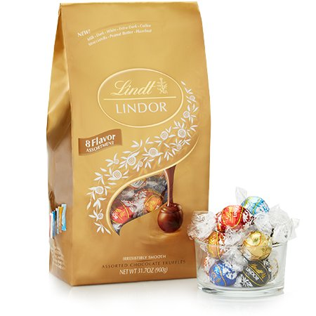 Lindt Lindor Chocolate Truffles Gift Bag - 75 Count - 31.7 Ounces - 900 Grams (Assorted All Time Favorites) (Ecards Xmas Charity)