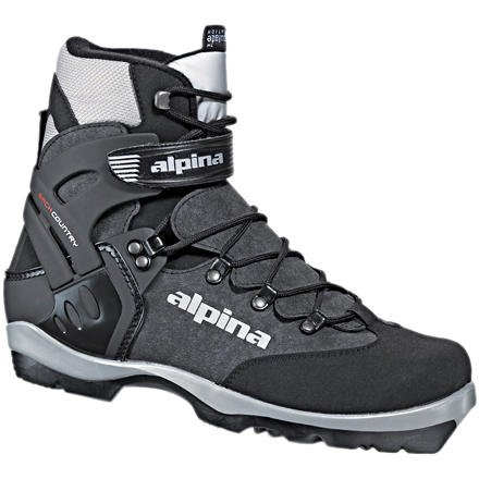 (Alpina BC-1550 Back-Country Nordic Cross-Country Ski Boots, for use with NNN-BC Bindings, Black/Silver, 42)
