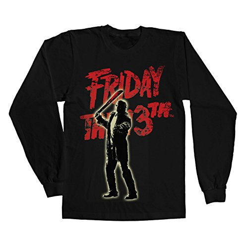 Friday The 13th Long Sleeve T Shirt Jason Voorhees new Official Mens Black -