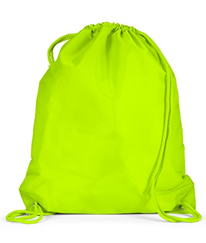 Liberty Bags Large Drawstring Backpack (8882)- Lime Green,One Size
