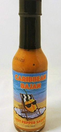 Mustard Pepper Sauce - Caribbean Bajan Hot Pepper Sauce 5 Fl. Oz.- (Single Bottle)