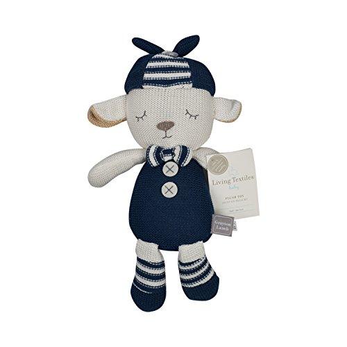 Navy Lamb (Living Textiles Navy Grayson Lamb Plush (Knit))