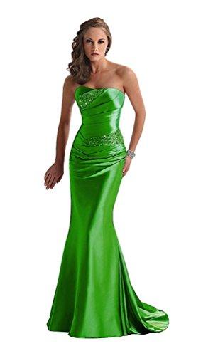 Emily Damen Grün Beauty Kleid Grün Trägerloser AYqncv17v