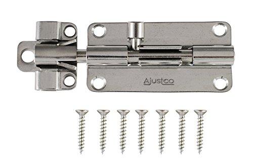 AjustLock 4 Inch Stainless Steel Barrel Bolt Lock