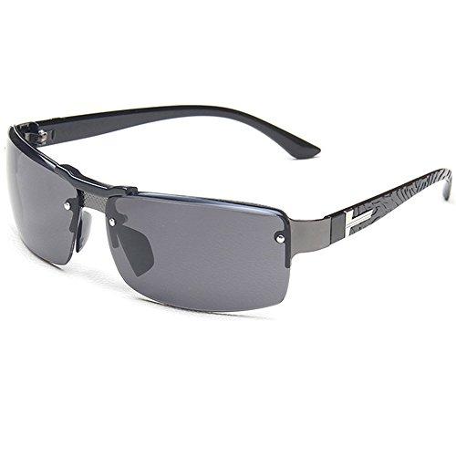 HUAYI Men's UV400 Outdoor Cool Frog Mirror Sunshade - Sunglasses Rectangle Mirror