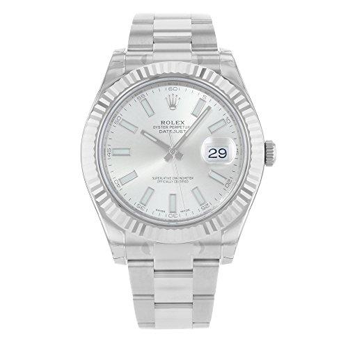 Rolex Datejust II 41mm Steel Silver Dial Men's Watch 116334