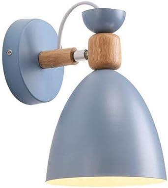 SLYT E27 - Lámpara de pared para interior o dormitorio, metal, iluminación de pared, salón, escaleras, lámpara de pared para exterior, sencilla: Amazon.es: Iluminación