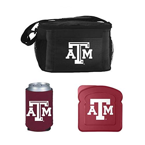NCAA Texas A&M Lunch Cooler Set | Texas A&M Aggies Cooler, Sandwich Container & Pocket Koozie