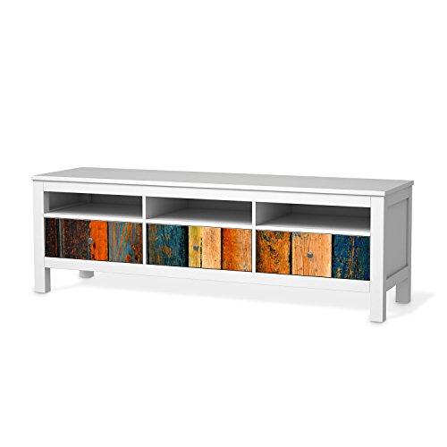Tv möbel ikea hemnes  Möbel-Folie für IKEA Hemnes TV-Bank 3 Schubladen | Aufkleber Möbel ...