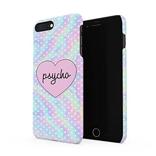(Psycho Heart Tye Dye Rainbow Polka Dots Pattern Hard Plastic Phone Case for iPhone 7 Plus & iPhone 8)