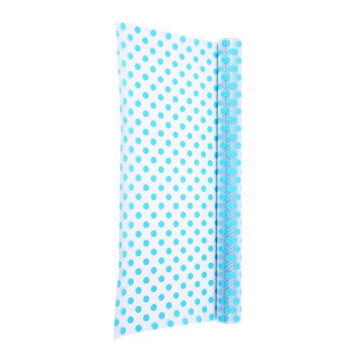 3 Rolls Anti-mildew Anti-bacterial Non-slip Waterproof Fridge Pads Drawer Liners DIY EVA Multipurpose Mats - Blue Dots