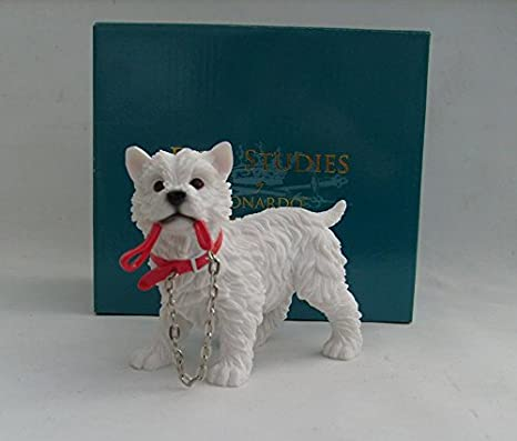 WEST HIGHLAND TERRIER DOG ORNAMENT//FIGURINE BY LEONARDO COLLECTION
