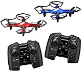 Propel RC Sky Force(TM) Battling Indoor/Outdoor High-Performance Drones, Red/Black, Pack of 2, OD-2108