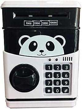 Panda Electronic Hucha ATM contraseña Dinero en Efectivo Monedas Caja Caja de Ahorro del Banco Caja de Seguridad del Billete de Banco automática (Color : Black): Amazon.es: Electrónica
