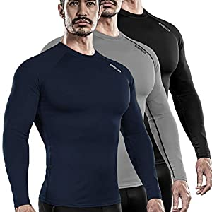 Well-Being-Matters 41yEJZ0moCL._SS300_ DRSKIN 1~3 Pack Men's Long Sleeve Compression Shirts Top Sports Workout Athletic Base Layer Dry Thermal Winter