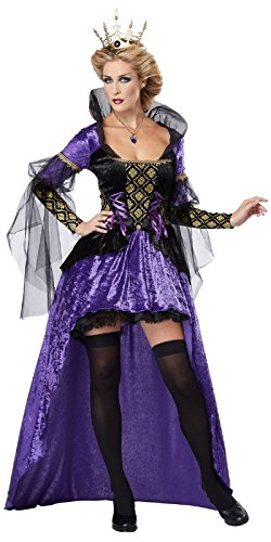 California Costumes Women's Wicked Queen Adult, Black/Purple, Medium