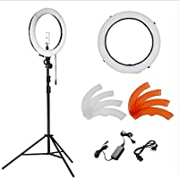 Neewer 14 inches 36W LED 5500K Dimmable Ring Light Kit: SMD Ring Light, 45-102 inches Light Stand, Ball Head Hot Shoe Adapter, Diffuser, Phone Holder for Video, Makeup, Portrait and Photography